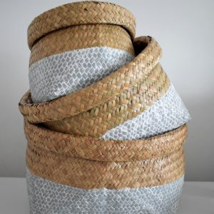 Handwoven Grey Basket